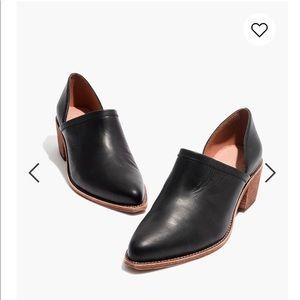 Madewell Brady lowcut bootie black leather 6.5
